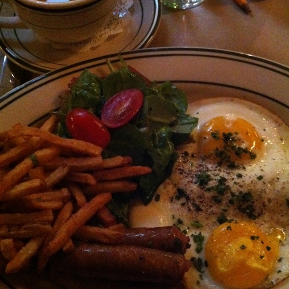 Merguez and Eggs @ Le Barricou