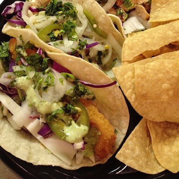 Crispy Baja Fish Tacos @ Baja Beach House Grill