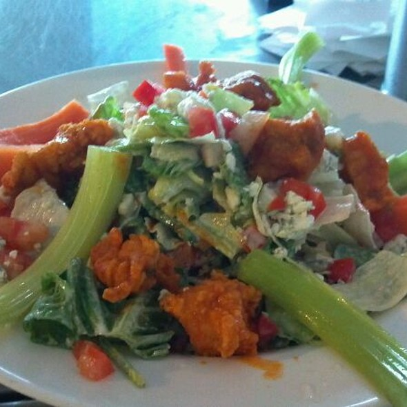 Buffalo Grouper Salad @ Gulf Drive Cafe