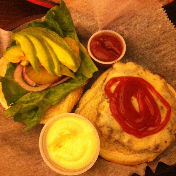 Pepper Jack Burger With Avocado And Curly Fries @ Corner Burger