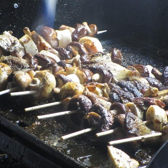 Grilled Mushrooms on a Skewer @ Neighbourgoods Market, Braamfontein