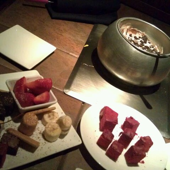 Chocolate Fondue Dessert Platter @ The Melting Pot