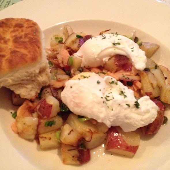Smoked Salmon Hash - Cha:n Seattle, Seattle, WA