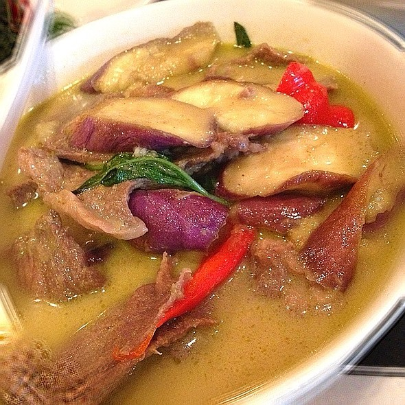 green curry with beef @ Chao Thai Restaurant