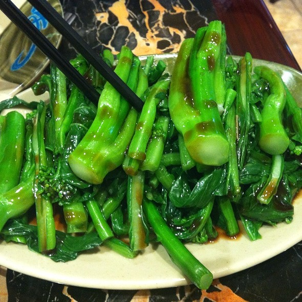 chinese broccoli @ Wonton Noodle Garden