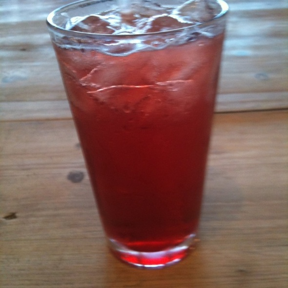 Sparkling Pomegranite @ Coral Tree Cafe
