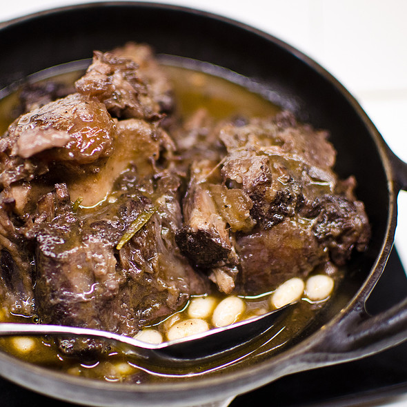 Braised Oxtail with White Beans @ Tapas 24