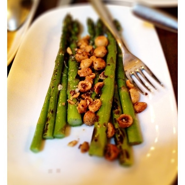 Grilled Ontario Asparagus With Toasted Hazelnuts. @ Ruby Watchco
