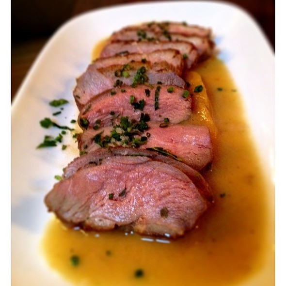Slow Roasted Duck Breast With Spicy Peach Sauce. @ Ruby Watchco