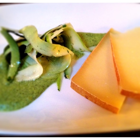 Apindon By Kootenay Alpine Cheese Co. With Ontario Zucchini & Mint. @ Ruby Watchco