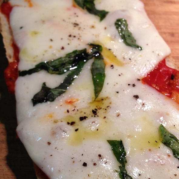 Ciabatta Provolone Pizza @ Intensity Academy Sauces Test Kitchen