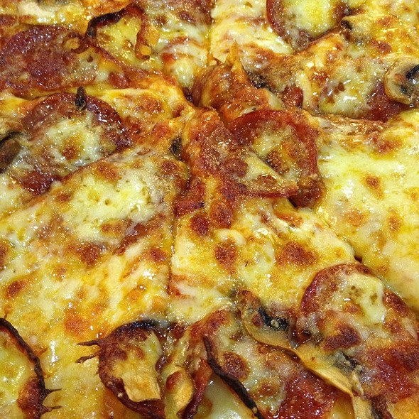 Pepperoni and Mushroom Pizza @ Yellow Cab Pizza