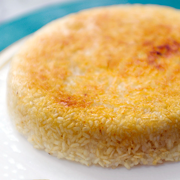 Rice with 'tah dig' @ Kool's