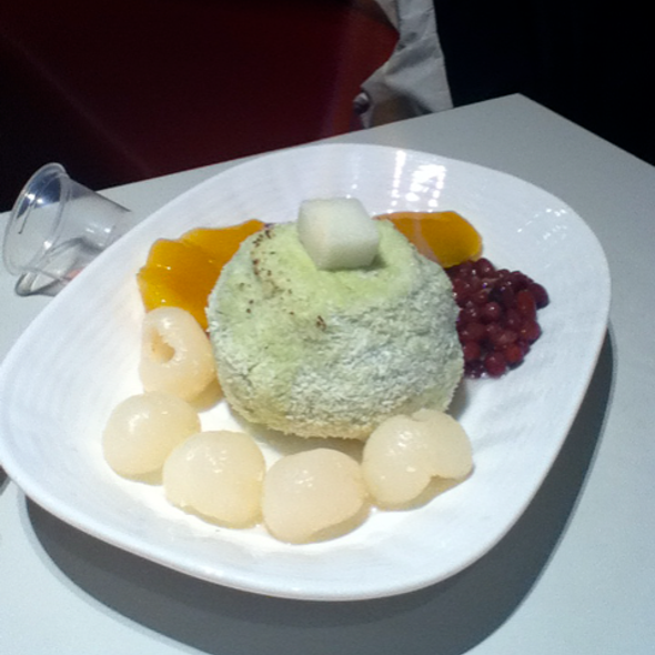 Green Tea Ice Cream with Lychee @ Oriental Tea House