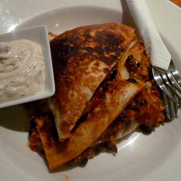 Vegetarian Quesadilla @ The East Brunswick Club Hotel