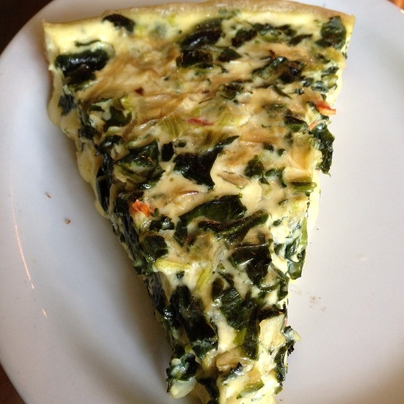 Spinach, Artichoke, Red Pepper Quiche @ Inman Perk Coffee