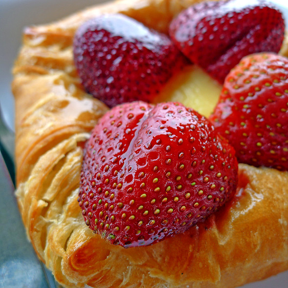 Strawberry & Cream Cheese Croissant @ Atlanta Bread Company