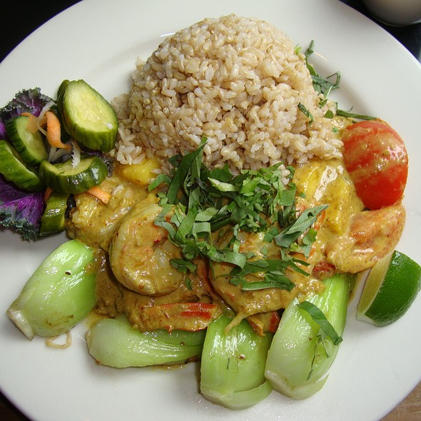 Pineapple Shrimp Curry w/ Steamed Brown Rice - Wild Ginger Seattle, Seattle, WA