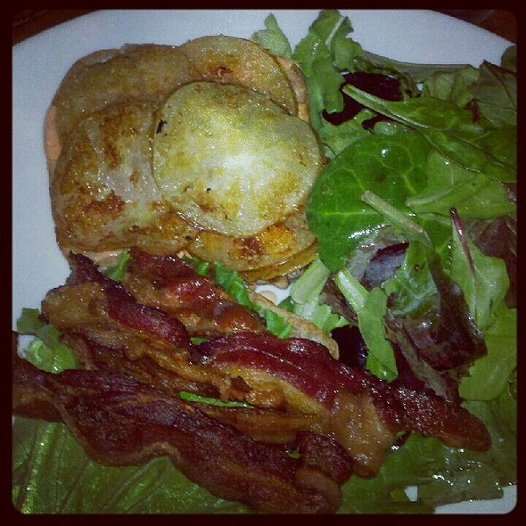 Fried Green Tomato BLT @ Cafe Saint-Ex
