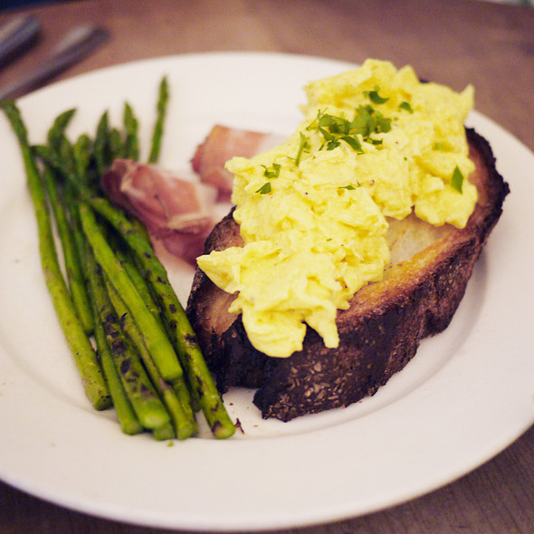 Scrambled Eggs On Toast - Cervantes' Oyster Shack, New York, NY