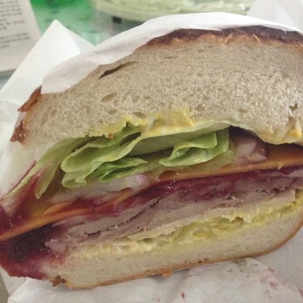 Turkey Cranberry And Cheddar Sandwich On Dutch Crunch @ Sandwich Board