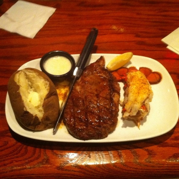 12 oz Ribeye w/ Lobster Tail @ Longhorn Steakhouse