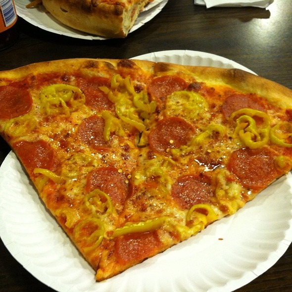Pizza With Pepperoni And Banana Peppers @ Pizza Stop