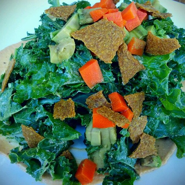 Kale Salad With Avocado, Spicy Carrots And Chipotle Dressing @ Matthew Kenney