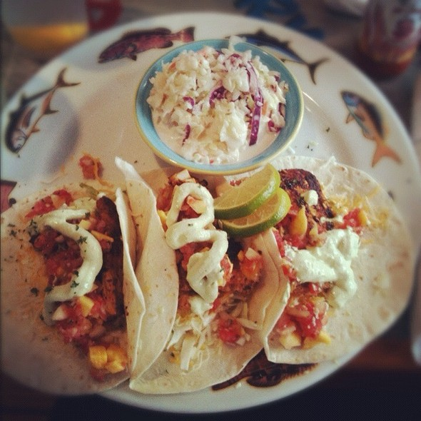 Mahi Mahi Tacos @ Crabby Bills Clearwater