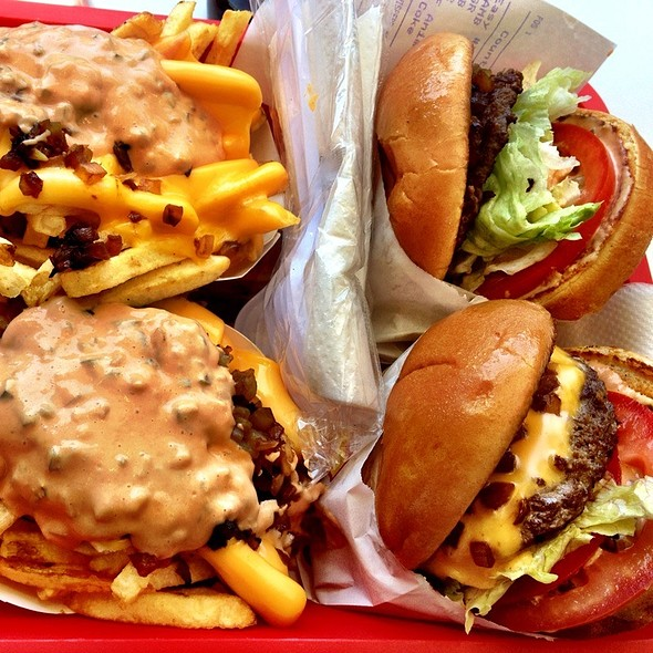 Cheeseburgers With Animal Style Fries  @ In-N-Out Burger