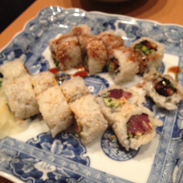 Sushi (Crispy Tuna Roll, Spider Roll, Spicy Tuna Roll) @ Sushiden Madison Ave