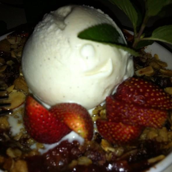 Strawberry Rhubarb Crisp With Vanilla Ice Cream - Olive and Vine - Glen Ellen, Glen Ellen, CA