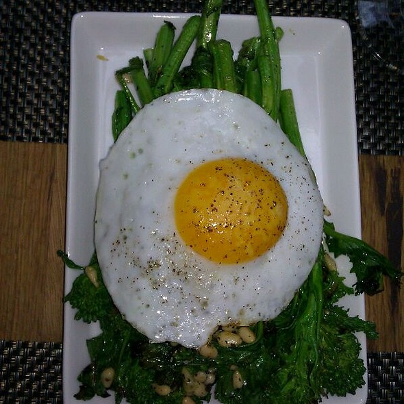 Grilled Rapini With Duck Egg @ Urban Farmer