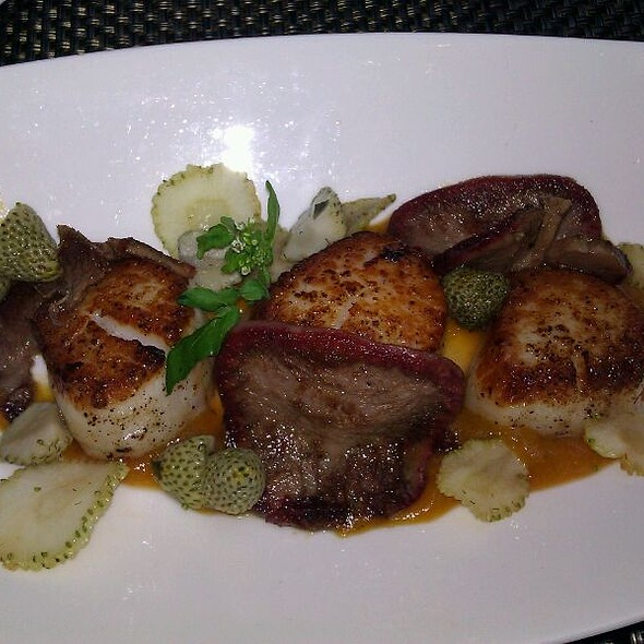 Sea Scallops With Beef Tounge @ Urban Farmer