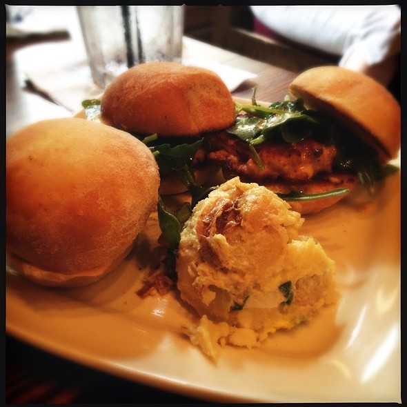 Mini Salmon Burgers @ Cafe Tu Tu Tango