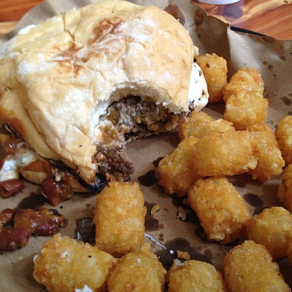 The Pharmacy Burger Parlor And Beer Garden Chili Burger Foodspotting