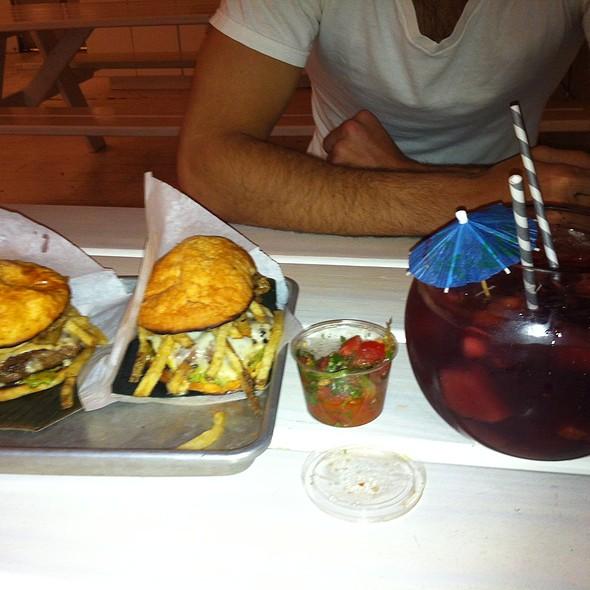 Beef Frita with Fries and Sangria @ Frita Batidos