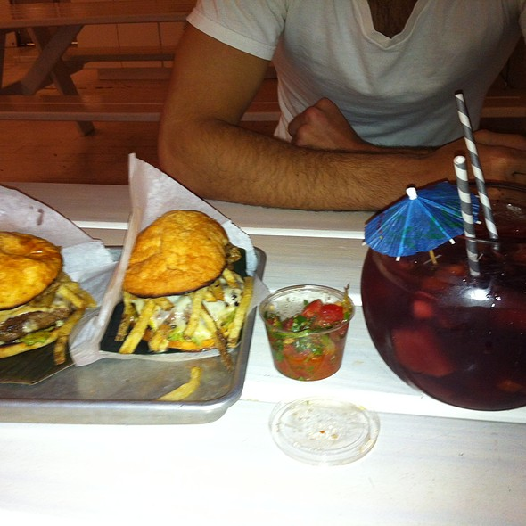 Beef Frita with Fries and Sangria @ Frita Batidos