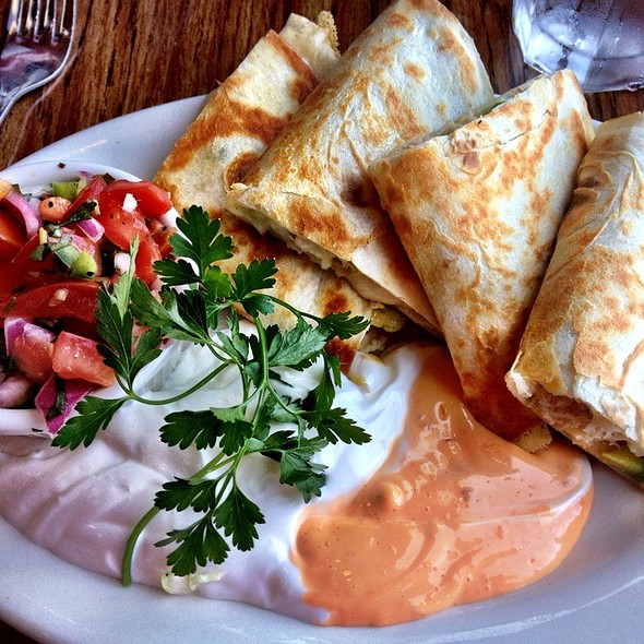 Crab & Avocado Quesadilla - Moss Beach Distillery, Moss Beach, CA