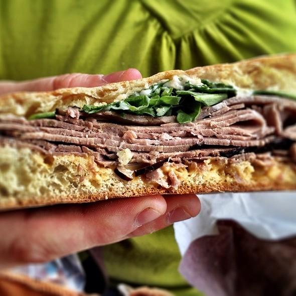 Roast Beef, Arugala & Horseradish Mayo @ Ruby Eats