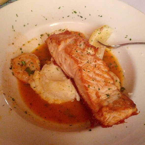 Atlantic salmon and shrimp - Marsha Brown, New Hope, PA