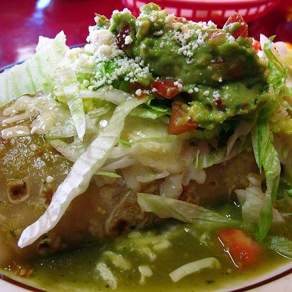 "vegetarian ""border burrito"" @ Esmeralda's Mexican Restaurant"