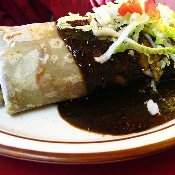 Chicken Molé Burrito @ Esmeralda's Mexican Restaurant