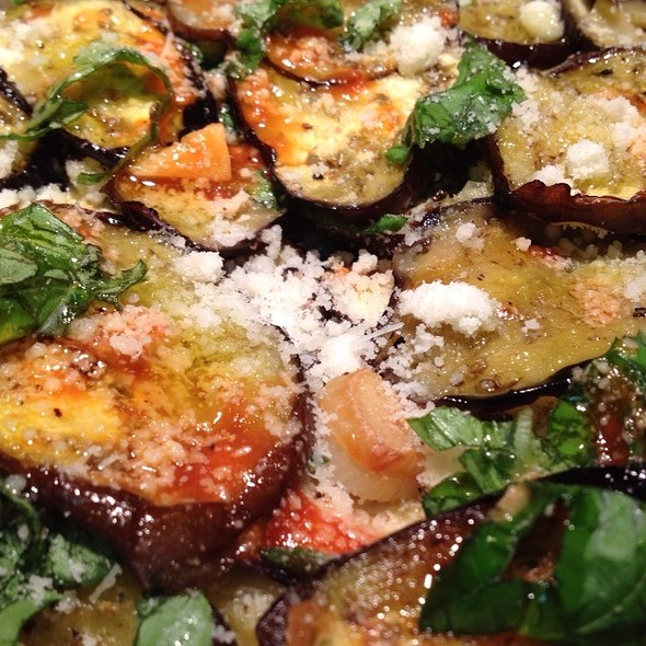Layered Eggplant with Tomatos @ Intensity Academy Sauces Test Kitchen