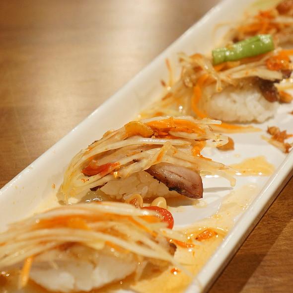 Somtum and Grilled Pork Neck Sushi @ Japan I LARB You