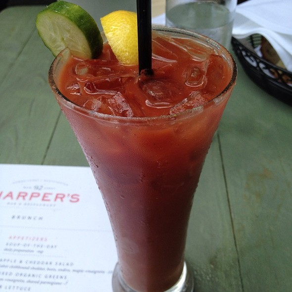 Morning Nightshade Bloody Mary's, With Organic Cucumber Vodka - Harper's Restaurant and Bar, Dobbs Ferry, NY