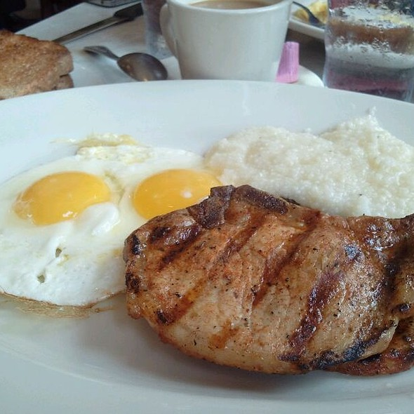 Grilled Pork Chop Breakfast