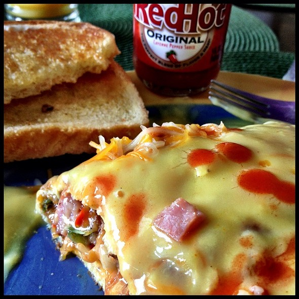 Western Omelette With Red Hot @ Chesapeake Ponds Cafe