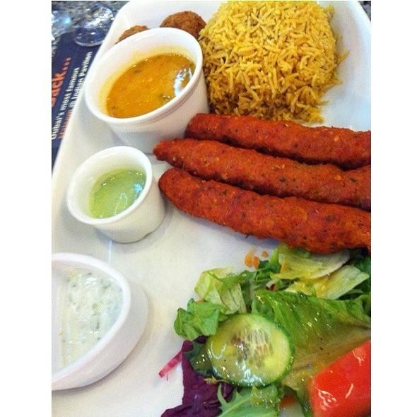 Lamb shish kabab plate