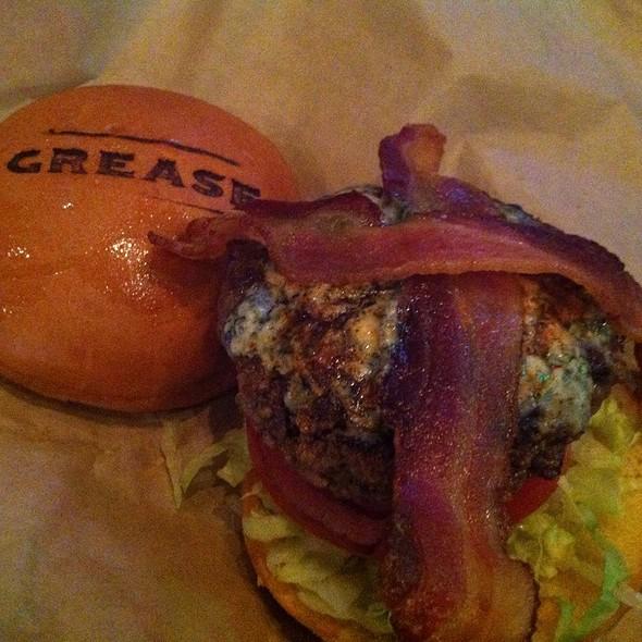 Black And Blue Burger @ Grease Burger Bar
